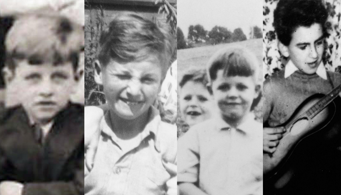The Beatles As Kids, From Left To Right, Ringo Starr, John Lennon, Paul MacCartney And George Harrison, Musicians, The Beatles Slideshow