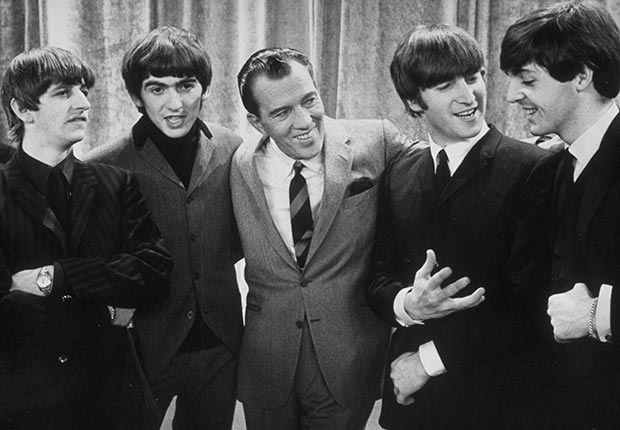 The Beatles on the Ed Sullivan TV show