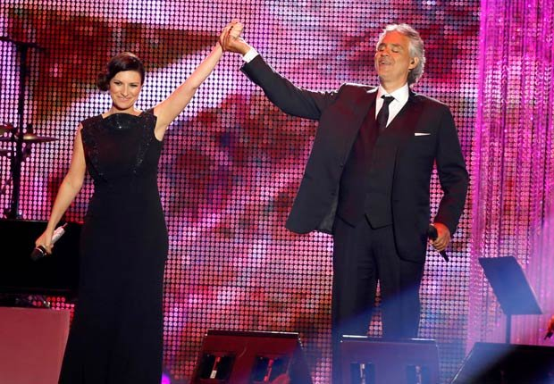 Laura Pausini y Andrea Bocelli - Premios Billboard 2014