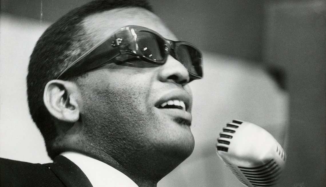 Ray Charles, Singer, Musician, Microphone, On Stage, Boomers Generation Soundtrack