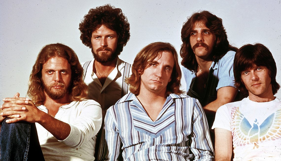 The Eagles, Band, Musicians, Singers, Glenn Frey, Joe Walsh, Don Henley, Don Felder, Portrait, Boomer Generation Soundtrack