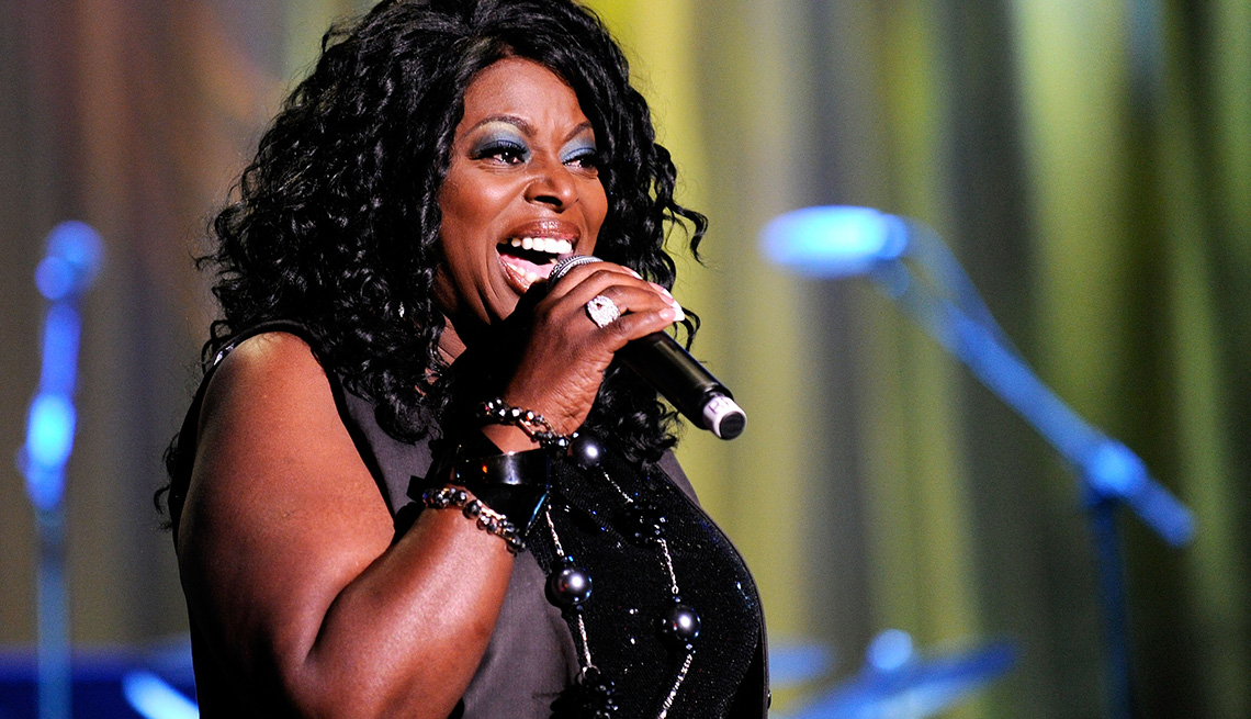 Singer, R&B, Angie Stone, Performance, On Stage, Microphone, Hip Hop Boomers