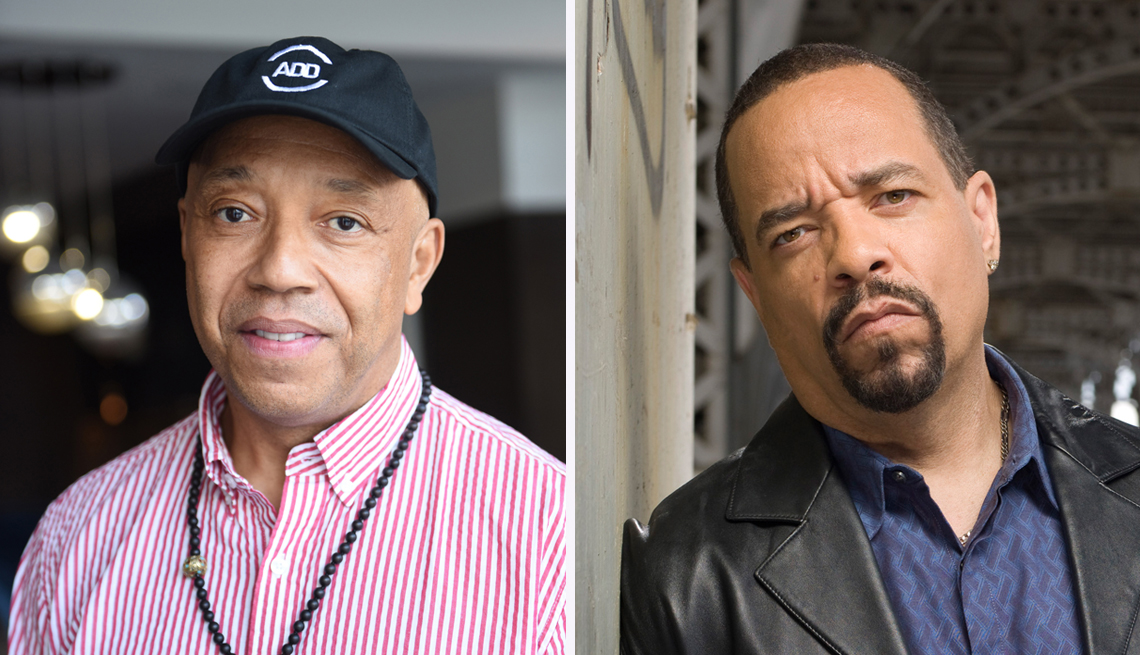 Russell Simmons, left, and Ice-T