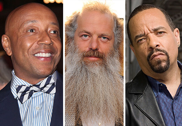 Russell Simmons, Music Producer Rick Rubin, and Ice-T, Boomers in Hip Hop