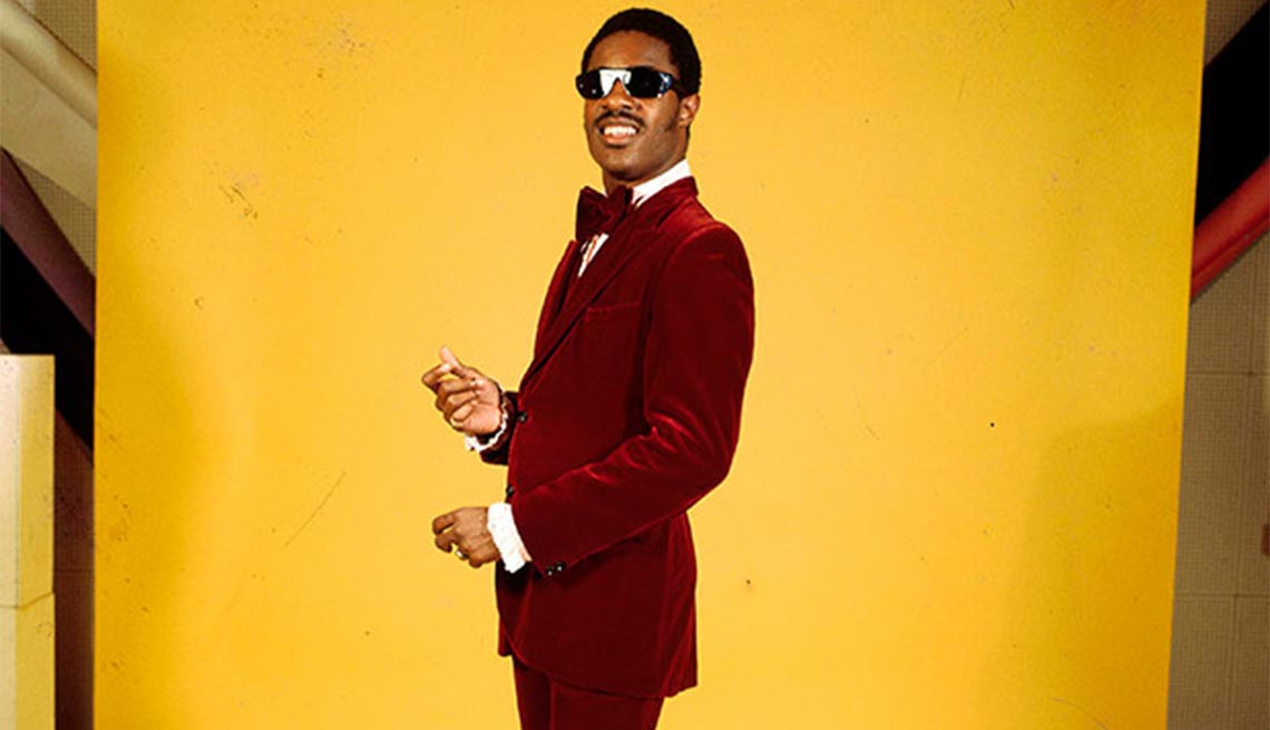 Stevie Wonder, Singer, Songwriter, Musician, Portrait, Yellow Background, Red Velvet Suit, 10 Things You Didn't Know About Rick James