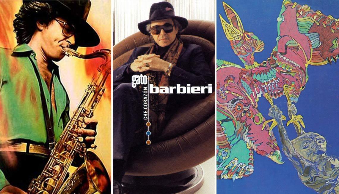 Gato Barbieri - fotomontaje de sus discos
