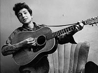 Dylan in 1961, the year of his debut album.