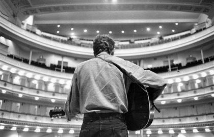 Bob Dylan, sound check, first appearance at Carnegie Hall, 1963