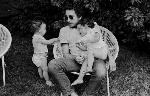 Bob Dylan with his children