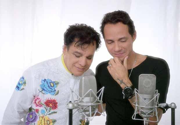 Juan Gabriel grabando con Marc Anthony - Carrera del cantautor mexicano