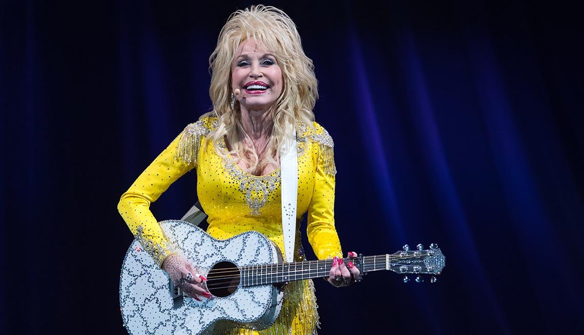 Dolly Parton performs in Wilkes-Barre, Pa. during her Pure and Simple Tour on Wednesday, June 22, 2016.