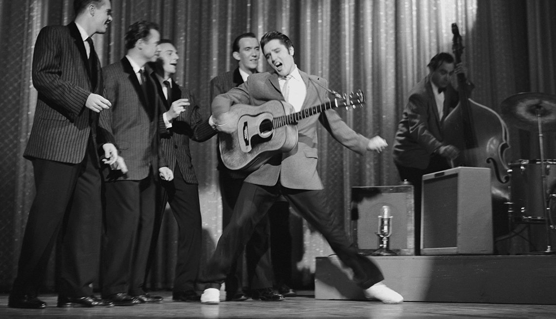 Elvis performs on the Ed Sullivan Show in 1956
