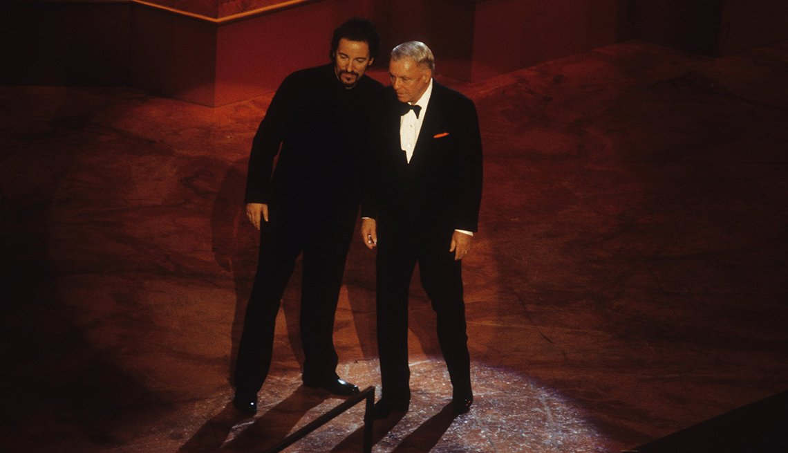 Bruce Springsteen and Frank Sinatra at Sinatra's 80th Birthday Celebration