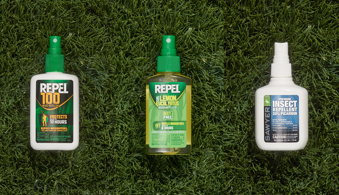 Repel 100 Insect Repellent, Repel Lemon Eucalyptus and Sawyer 'Fisherman's Formula' Picardian Insect Repellent