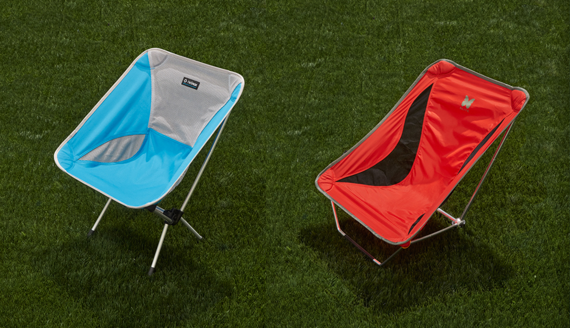 Big Agnes' Helinox Chair One and Alite's Mayfly Chair