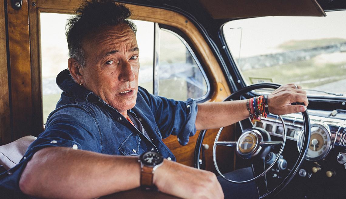 Image result for Images of Bruce springsteen in car