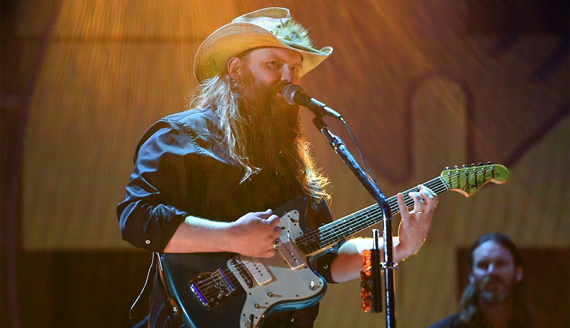 item 7, Gallery image. Chris Stapleton performs onstage during the 2017 iHeartRadio Music Festival in Las Vegas