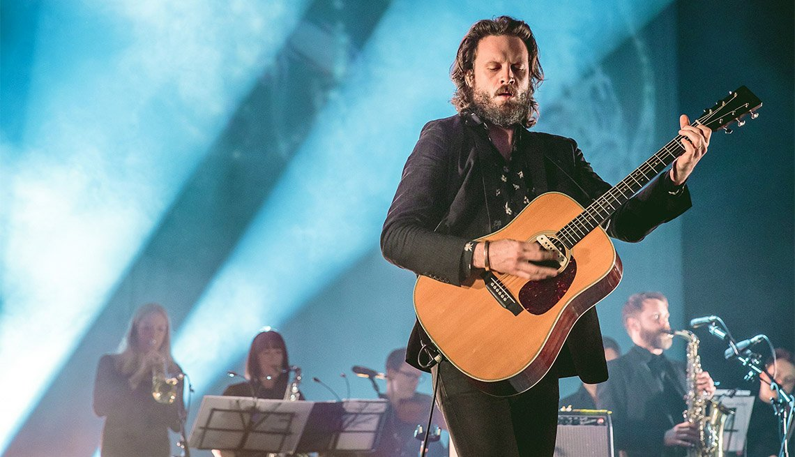 item 5, Gallery image. Father John Misty in concert at the O2 Apollo in Manchester, UK