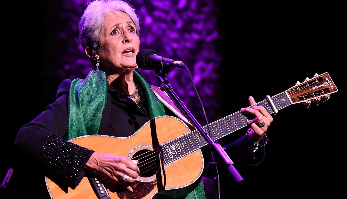 Joan Baez performs onstage
