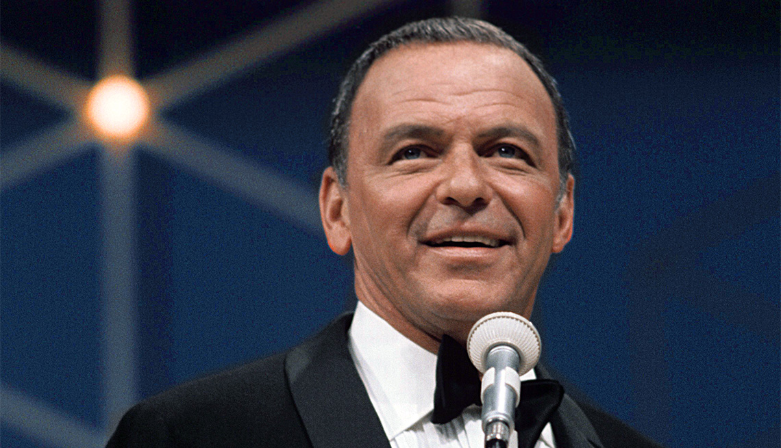 Frank Sinatra performs on a television special August 15, 1968