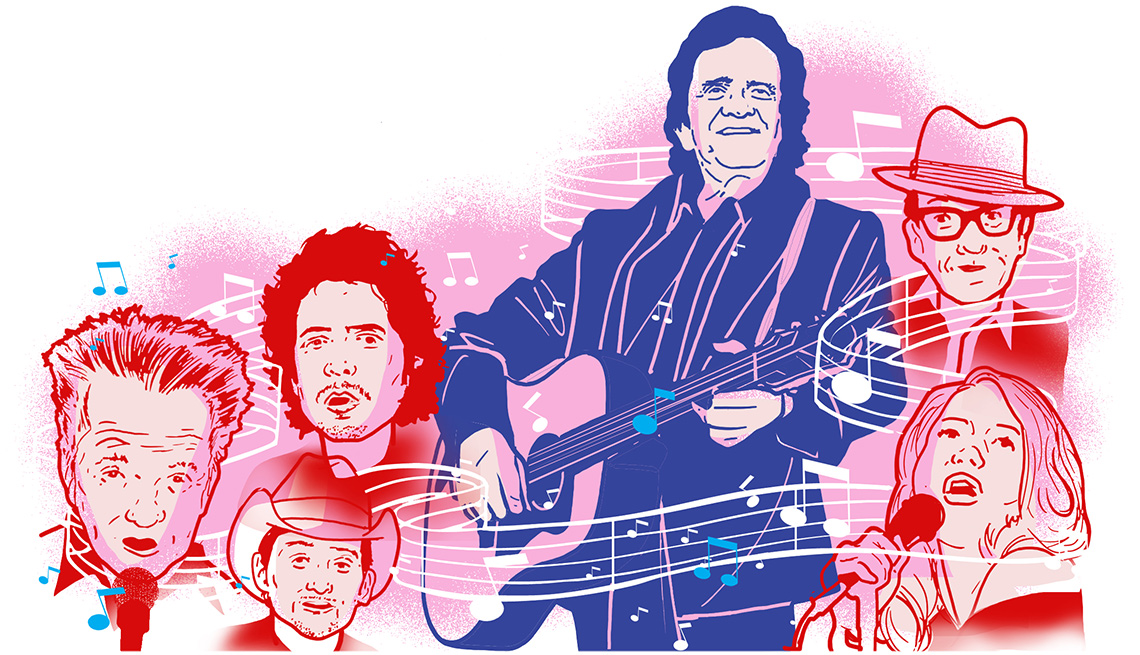 Johnny Cash illustration