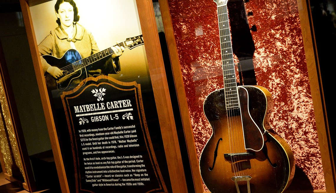 Maybelle Carter exhibit at the Country Music Hall of Fame