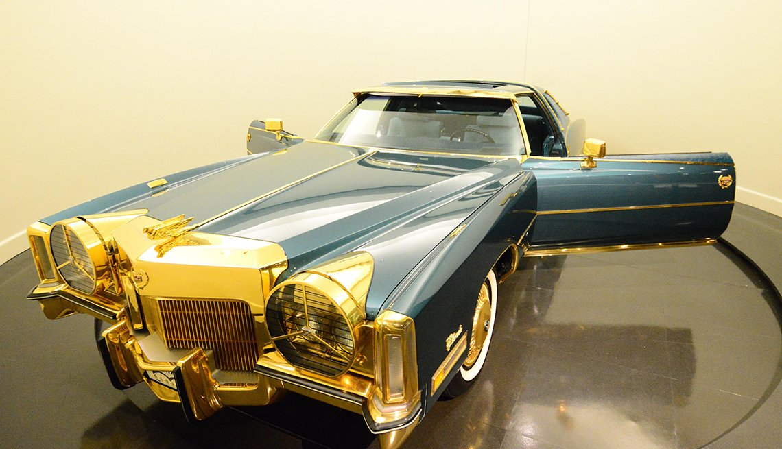 Isaac Hayes oro plateado Cadillac Eldorado