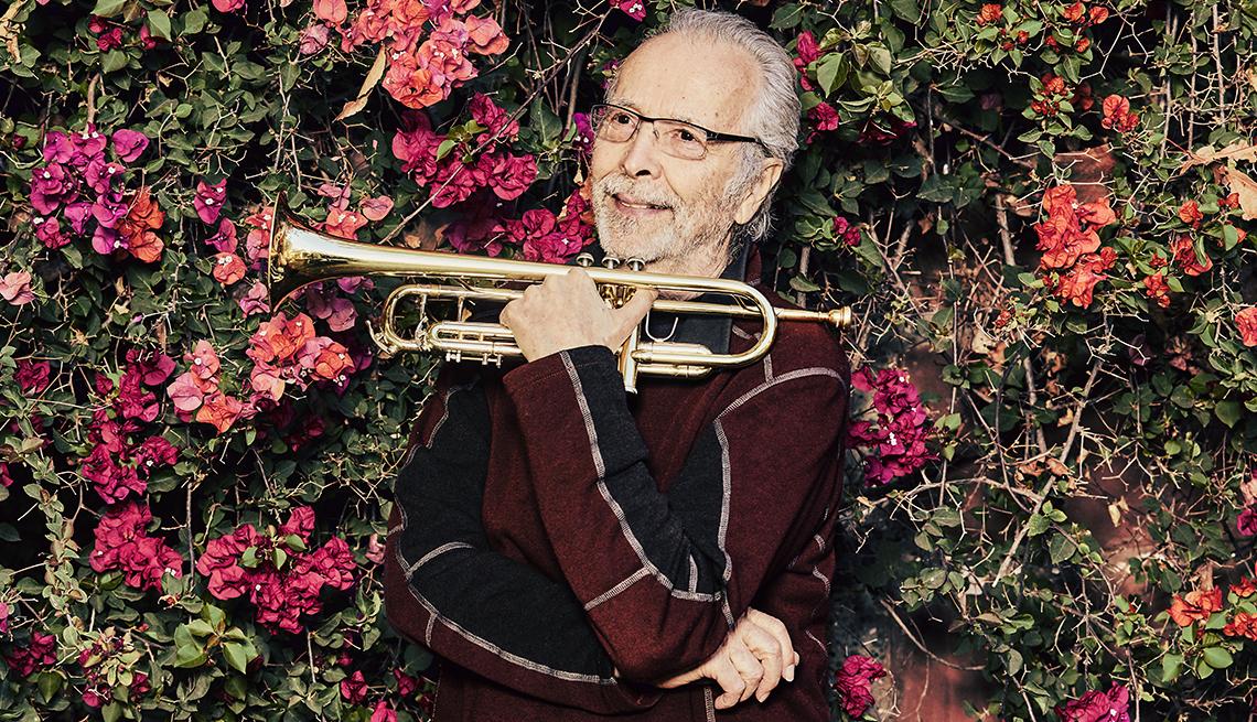 Herb Alpert and trumpet