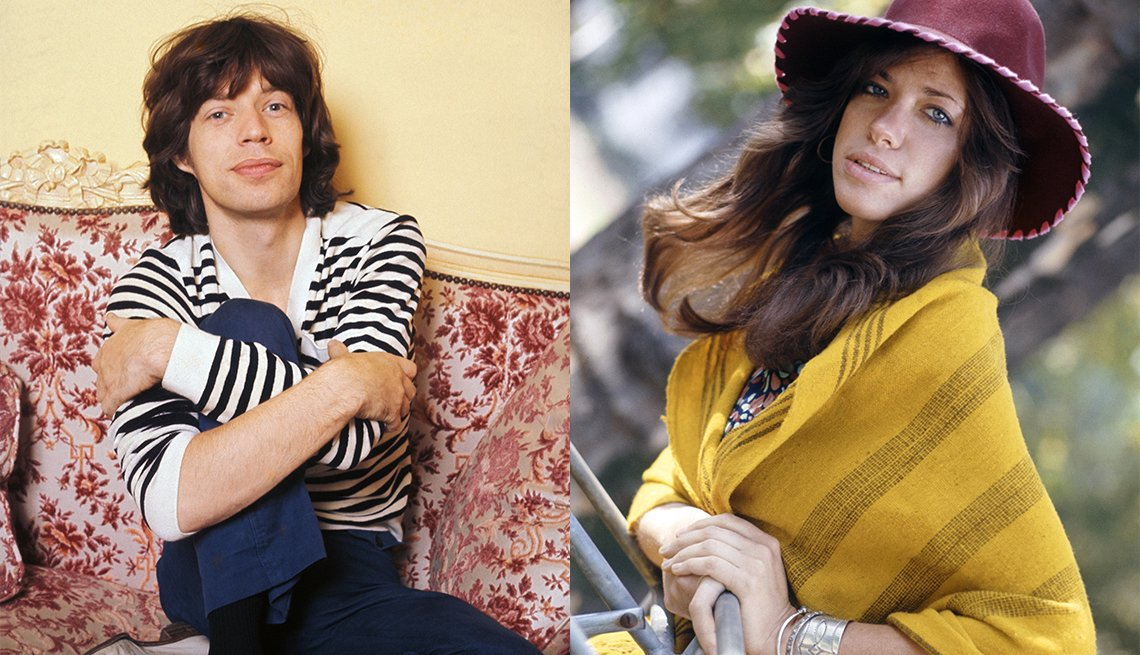 Mick Jagger and Carly Simon circa 1970s