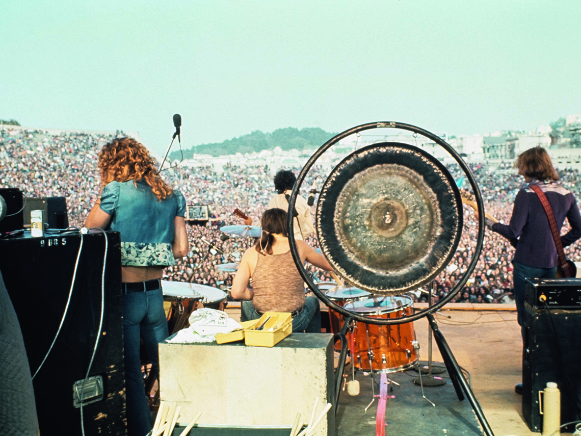 item 10 of Gallery image - Led Zeppelin performing at Kezar Stadium