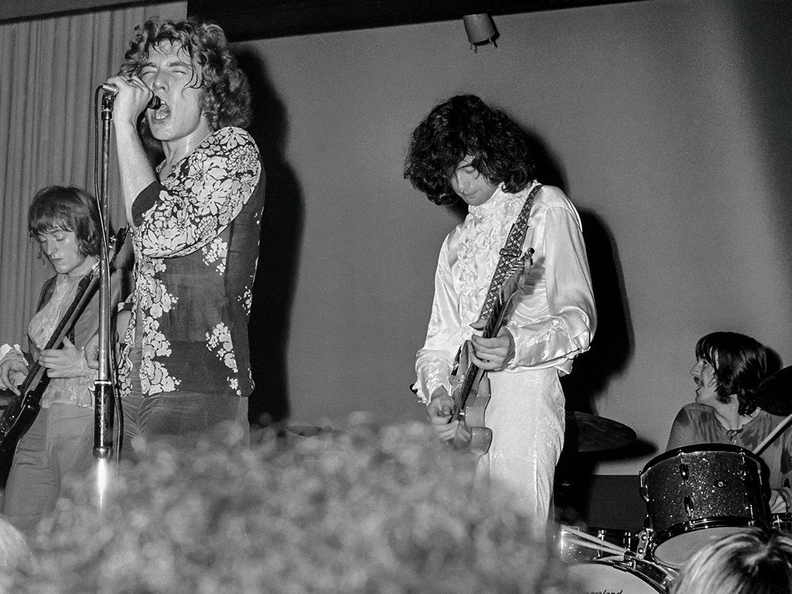 item 1 of Gallery image - John Paul Jones,  Robert Plant, Jimmy Page, John Bonham on stage
