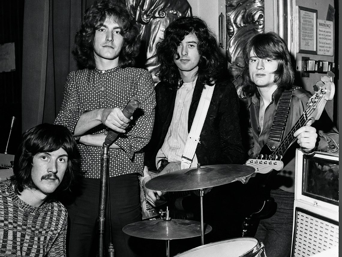item 9 of Gallery image - Led Zeppelin band performing at he Playhouse Theatre in London