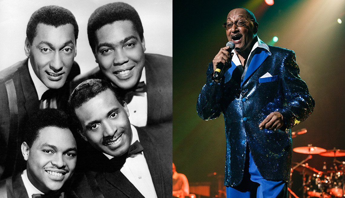 "The Four Tops, izq., y Abdul ""Duke"" Fakir, der."