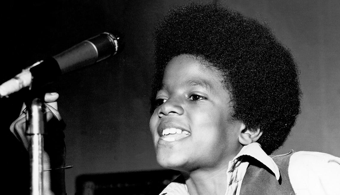 Michael Jackson en una presentación de los Jackson 5