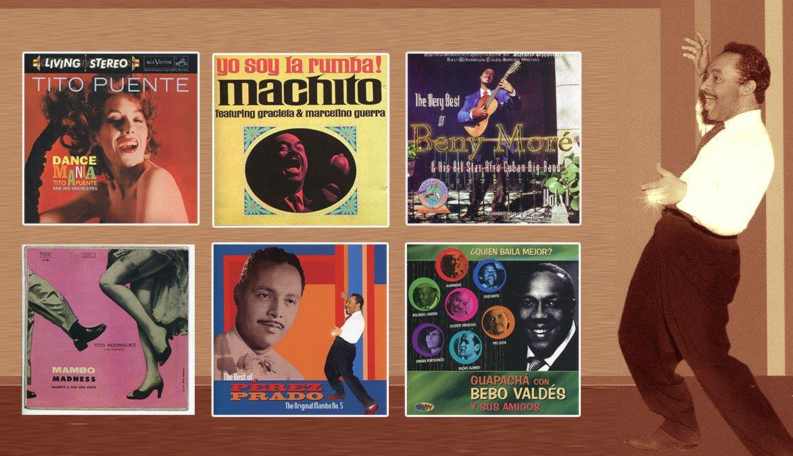 Montaje portadas discos de mambo