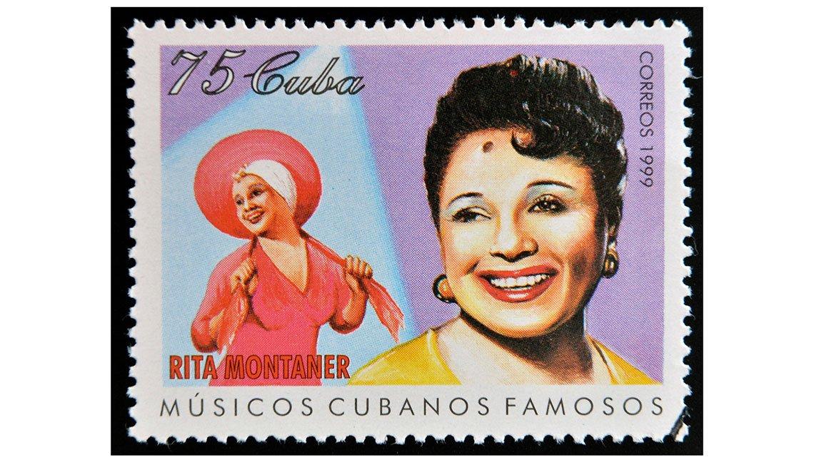 Estampilla dedicada a la artista cubana Rita Montaner