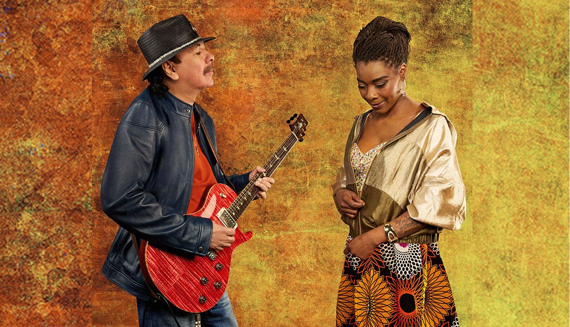 Carlos Santana y Buika para la promoción de su álbum Africa Speaks