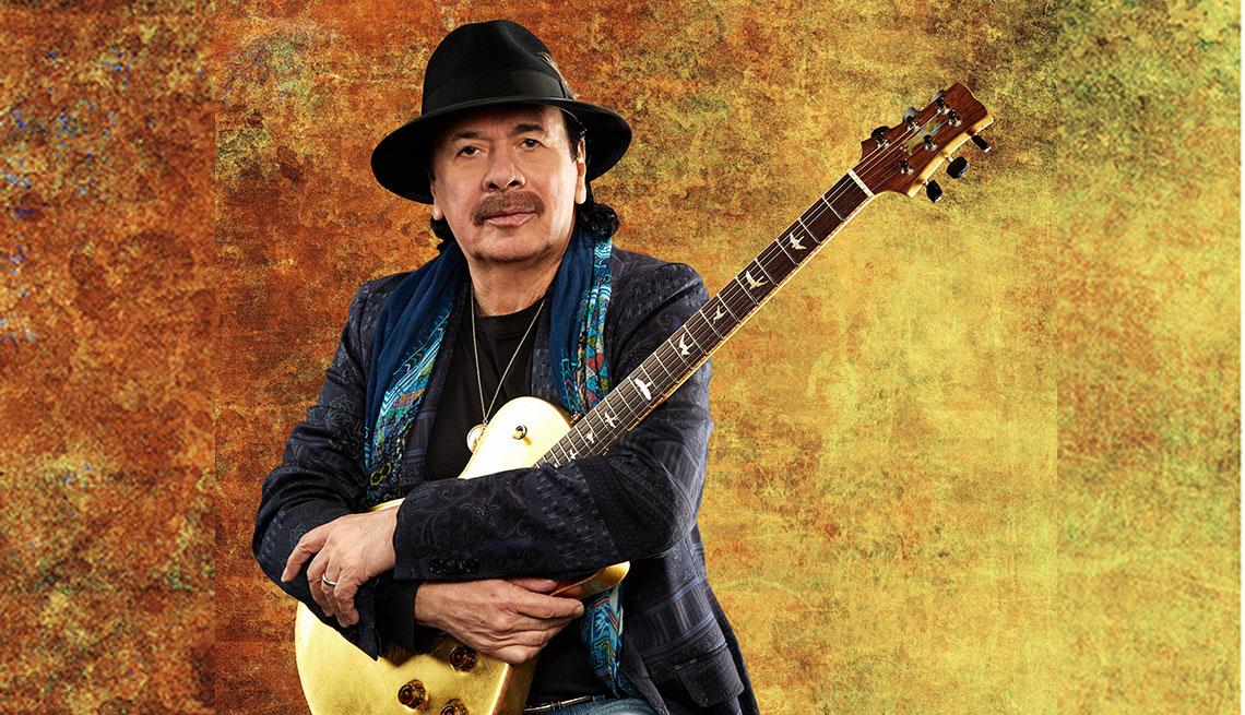 Carlos Santana para la promoción de su álbum Africa Speaks
