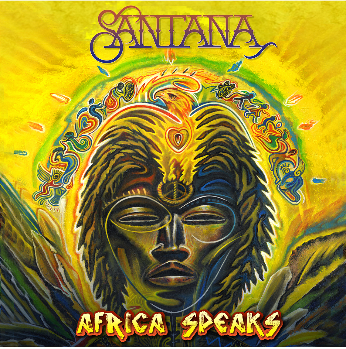 Portada del álbum Africa Speaks de Carlos Santana