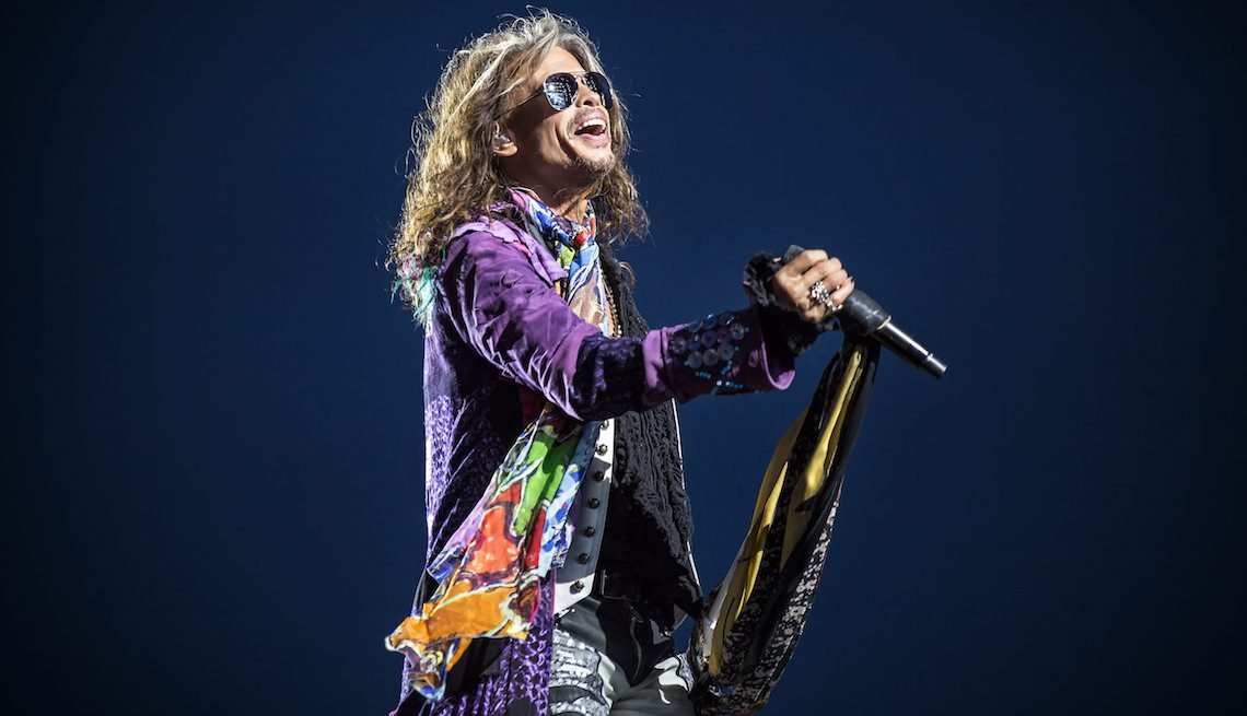 item 4 of Gallery image - Aerosmith performs a live concert during the Swedish music festival Sweden Rock Festival 2017. Here vocalist Steven Tyler is seen live on stage. Sweden, 08/06 2017.
