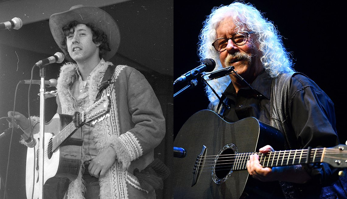 Arlo Guthrie in 1969 and 2018