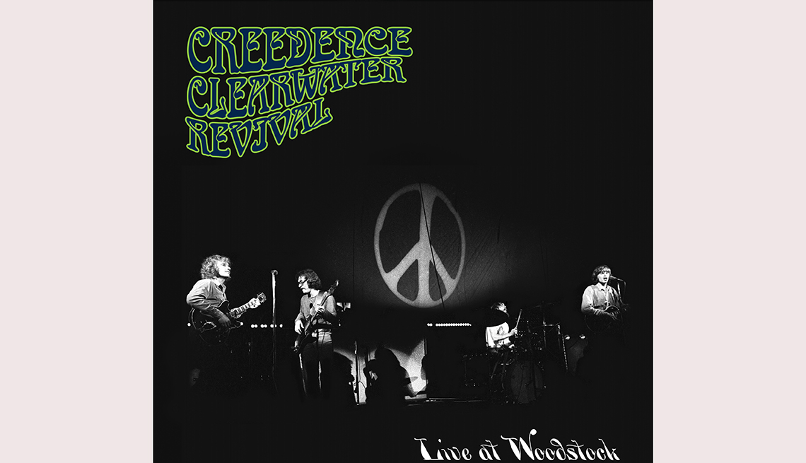 item 8 of Gallery image - Creedence Clearwater Revival Live at Woodstock album cover