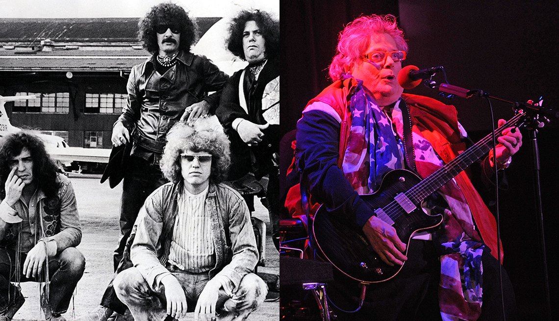 Mountain circa 1969; Leslie West in 2016