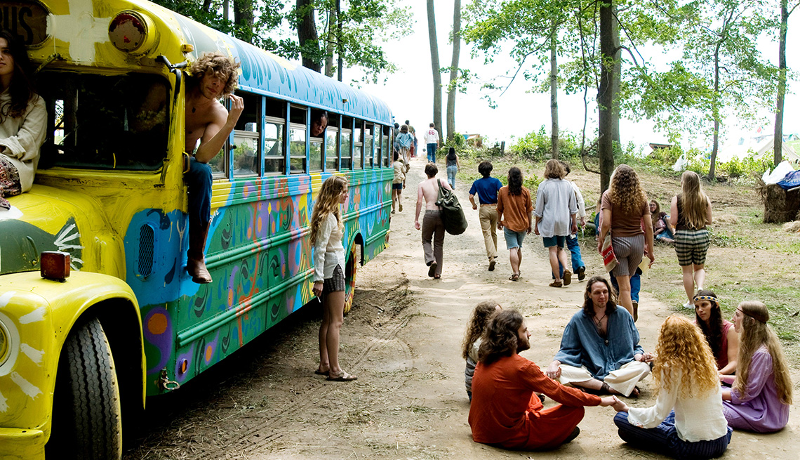 item 4 of Gallery image - scene from the movie, Taking Woodstock