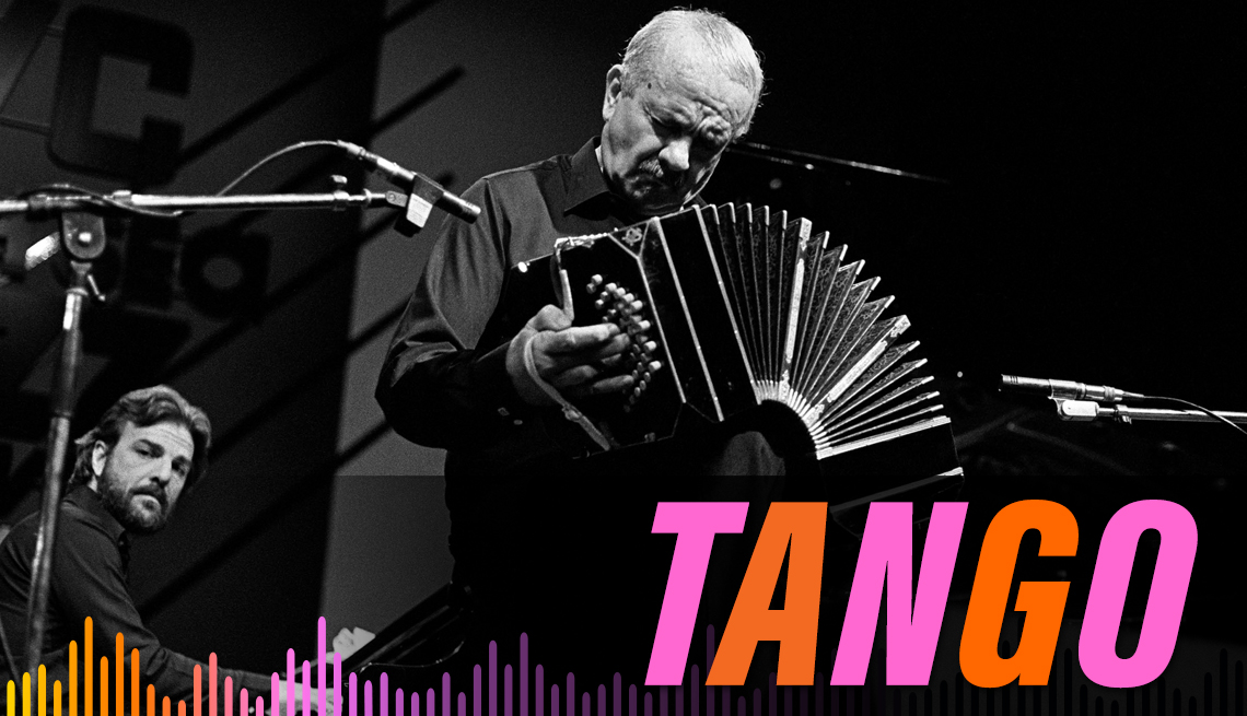 item 1, Gallery image. Astor Piazzolla performs live on stage at The North Sea Jazz Festival in The Hague, Holland on July 12 1985