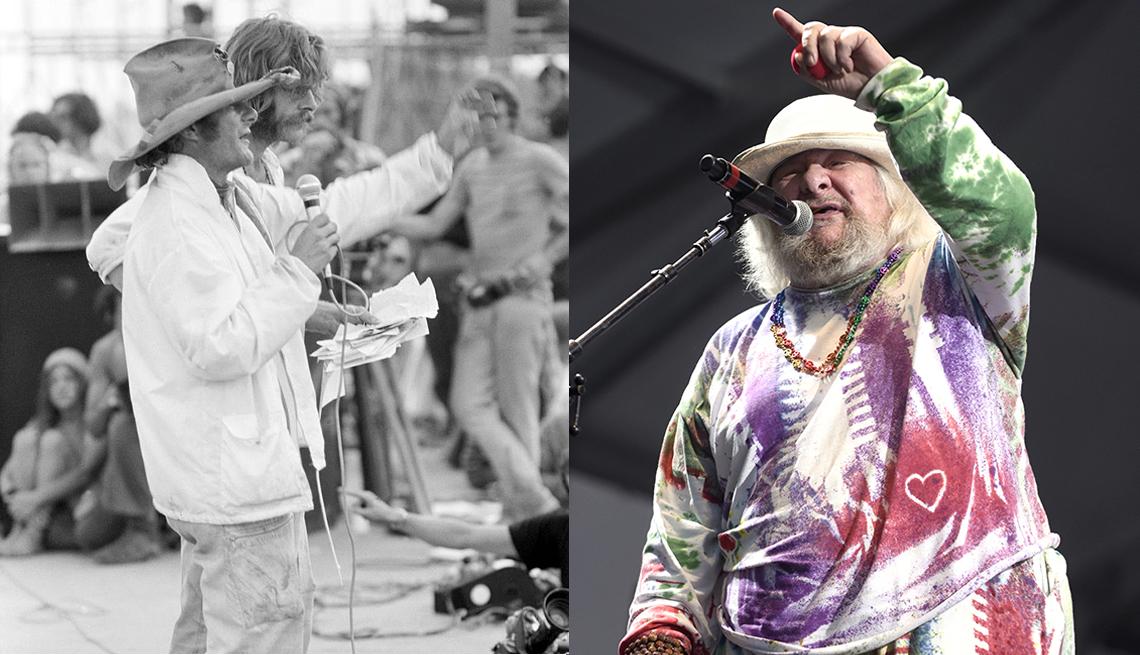 Wavy Gravy en Woodstock 1969; y en 2016