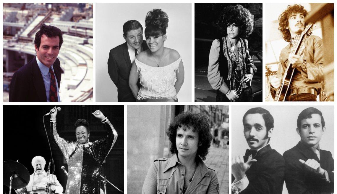 Julio Iglesias, Tito Puente, La Lupe, Gal Costa, Carlos Santana, Celia Cruz, Roberto Carlos, Willie Colón y Héctor Lavoe.