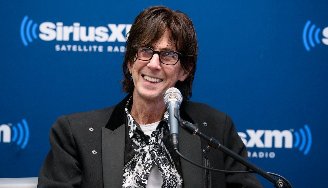 Ric Ocasek of The Cars attends the SiriusXM 'Town Hall' with The Cars: Town Hall to air on SiriusXM's 80's on 8 at SiriusXM Studio on April 28, 2016 in New York City.