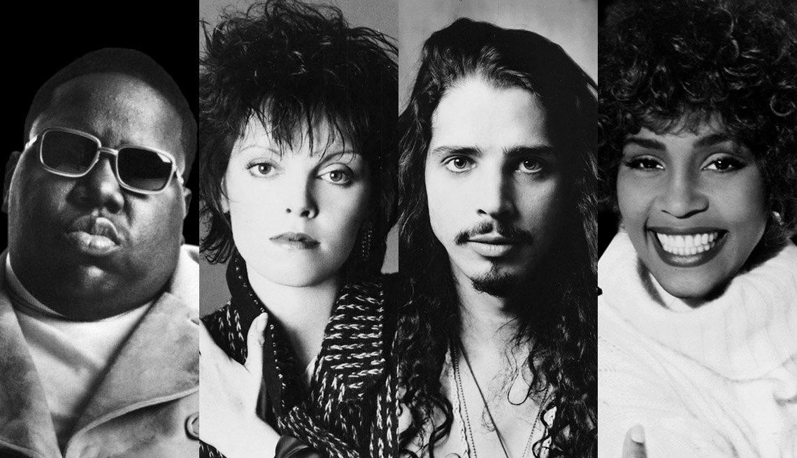 Notorious B.I.G., Pat Benatar, Chris Cornell of Soundgarden and Whitney Houston