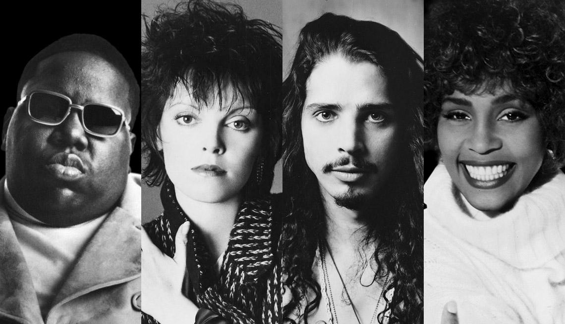 Notorious B.I.G., Pat Benatar, Chris Cornell of Soundgarden and Whitney Houston
